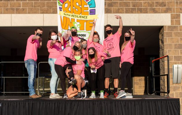 The Executive Board from last year performed the Morale Dance.